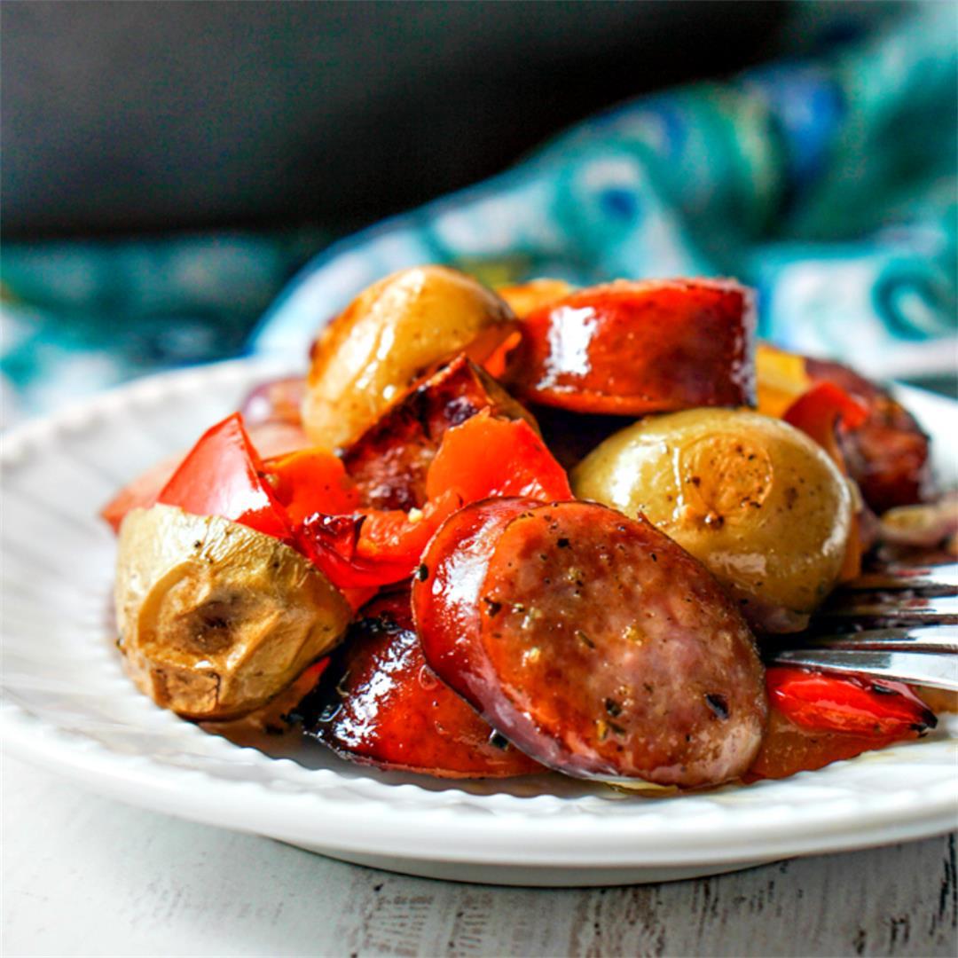 Quick & Easy Kielbasa Recipe with Potatoes & Peppers