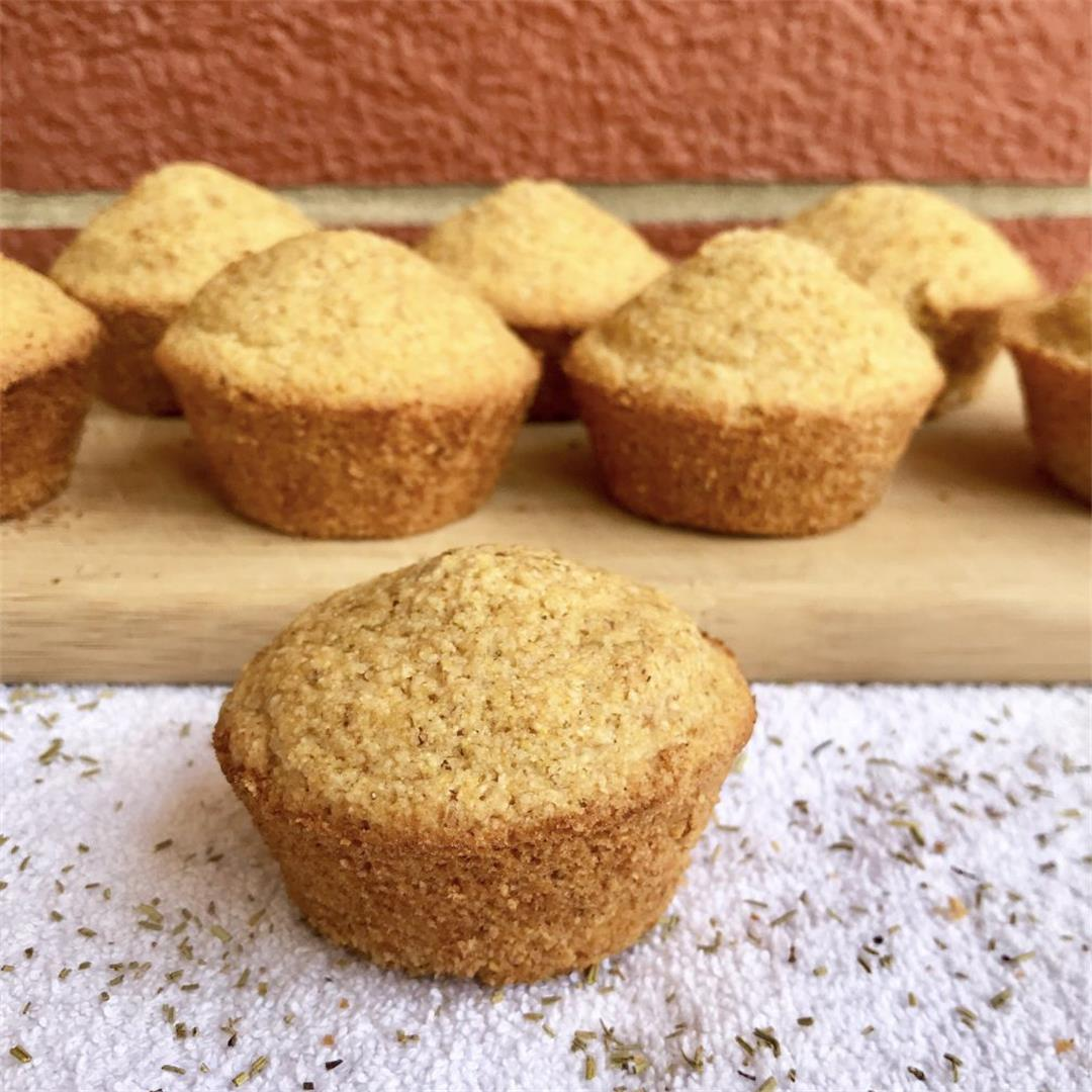 Rosemary Cornbread Muffins (Vegan/Gluten-Free)