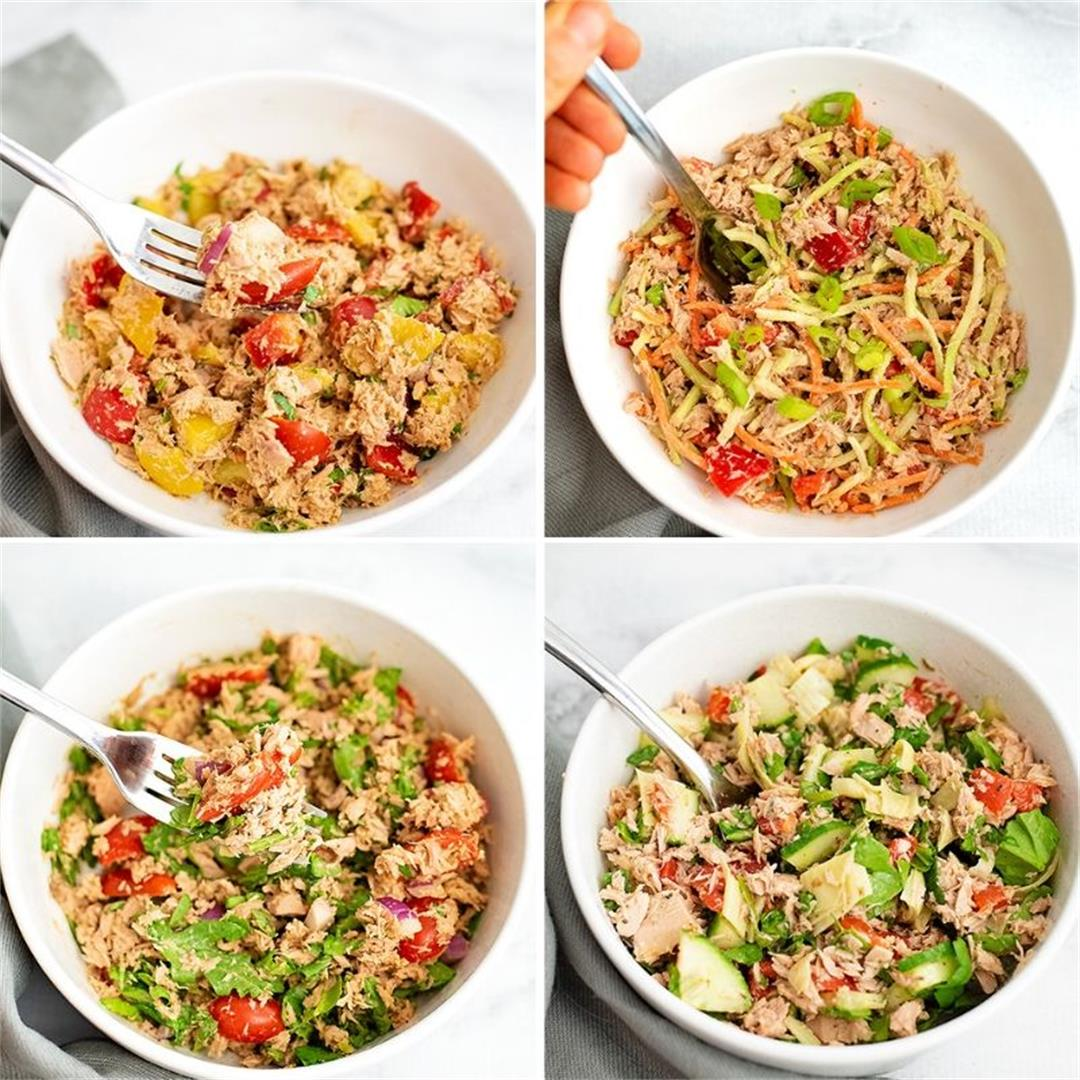 Healthy Tuna Salad Recipes 4 Ways (Whole30, Keto)