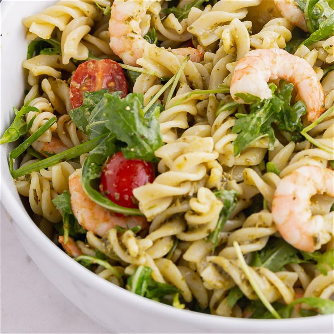 Pesto Pasta Salad with Prawns • The Cook Report