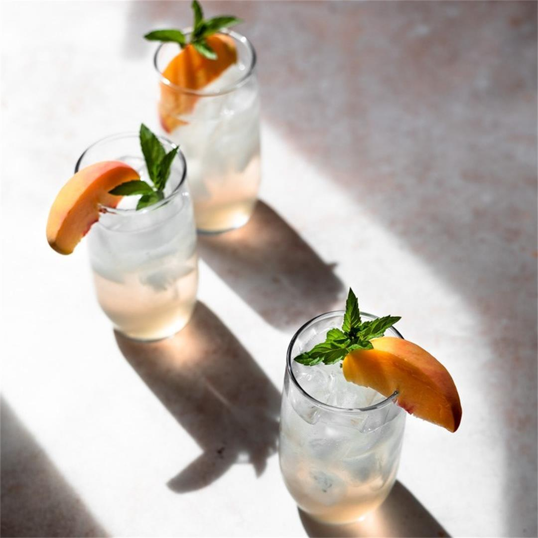 Peach Gin Fizz