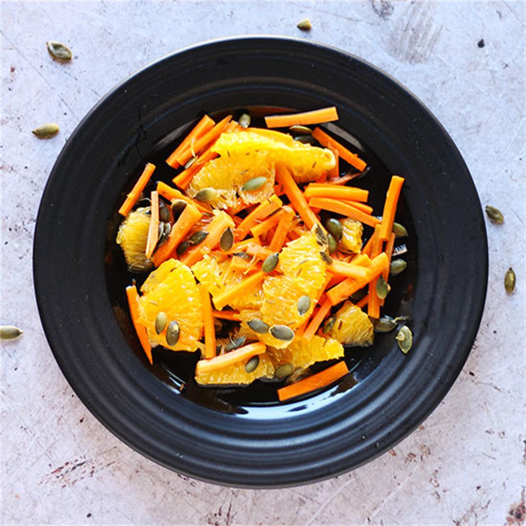 carrot, orange & cumin slaw