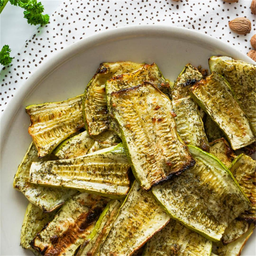Greek Zucchini Chips (Oven Baked)