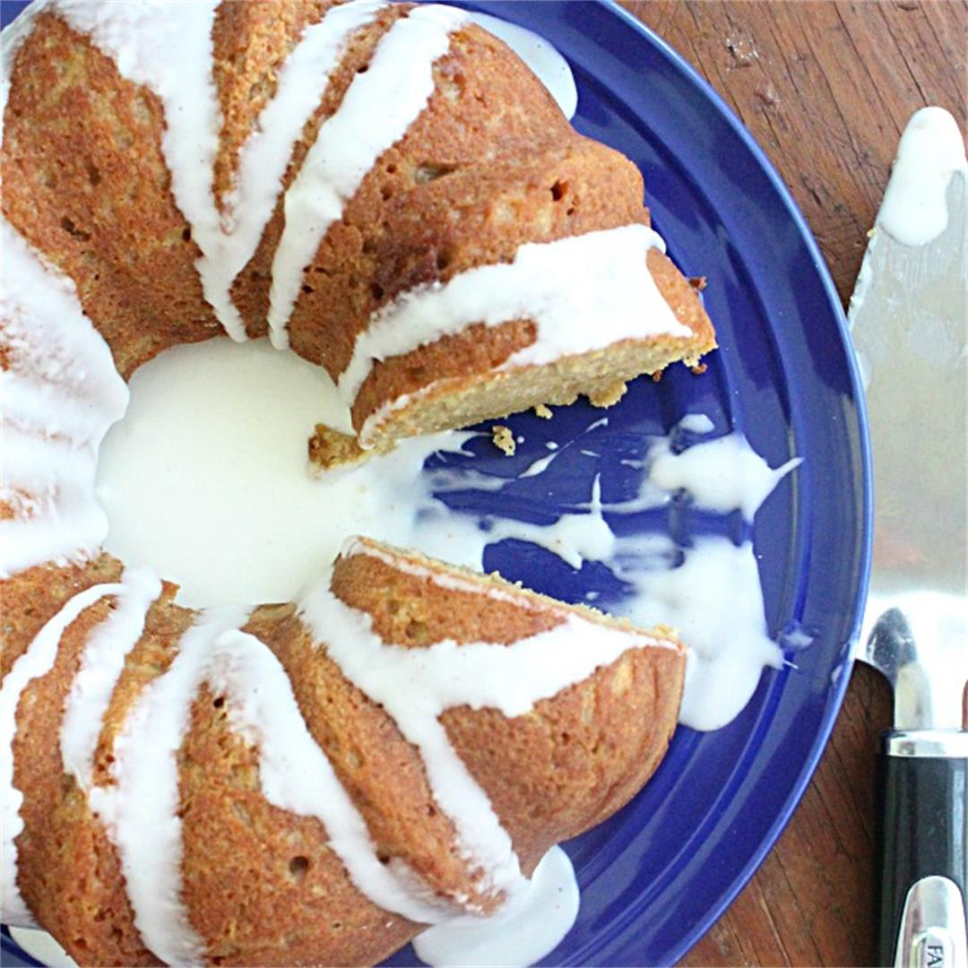Crème fraîche Bundt Cake with Crème fraîche Icing