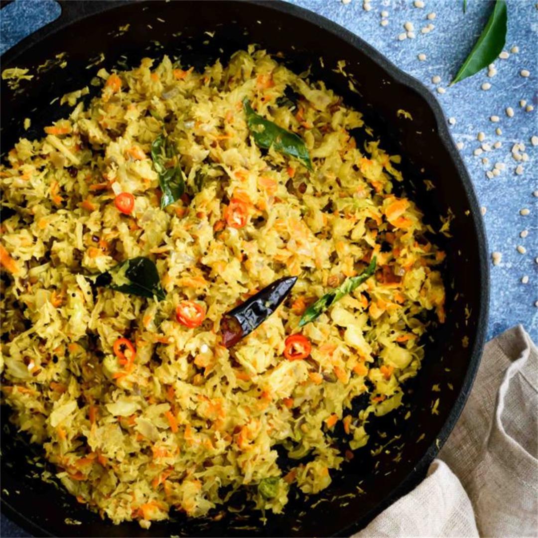 Cabbage Carrot Thoran / Stir Fry
