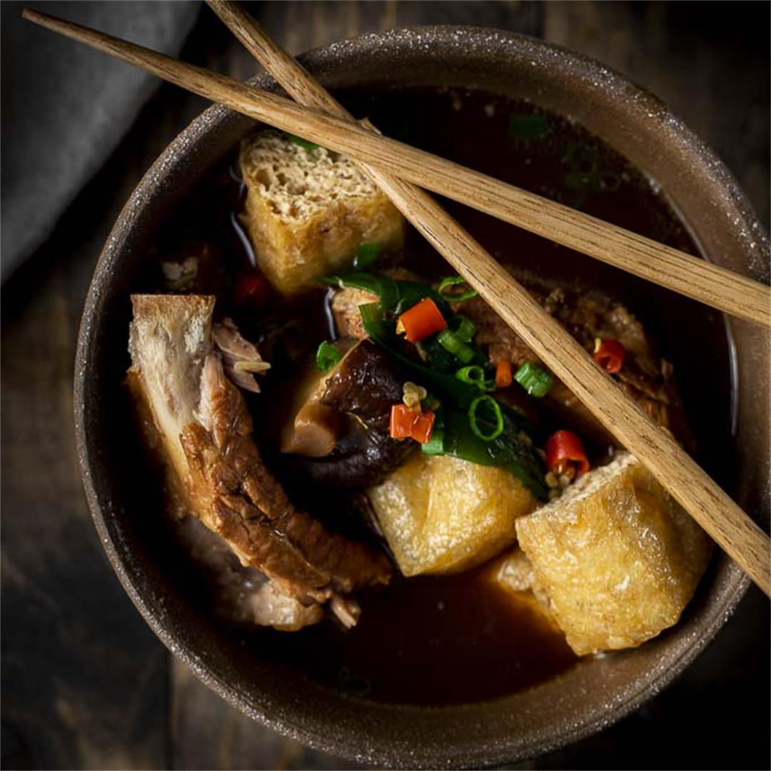 Instant Pot Bak Kut Teh Recipe (Pork Ribs Soup)
