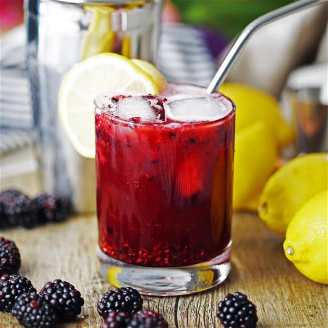 Blackberry Lemon Smash Cocktail