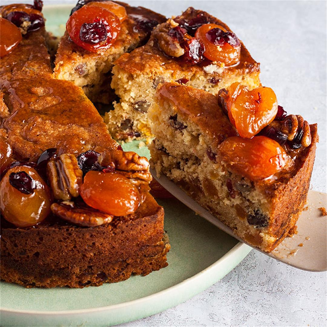 Apricot, Cranberry and Pecan Cake