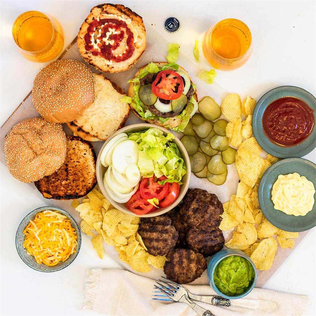 Build-Your-Own Burger Platter Recipe