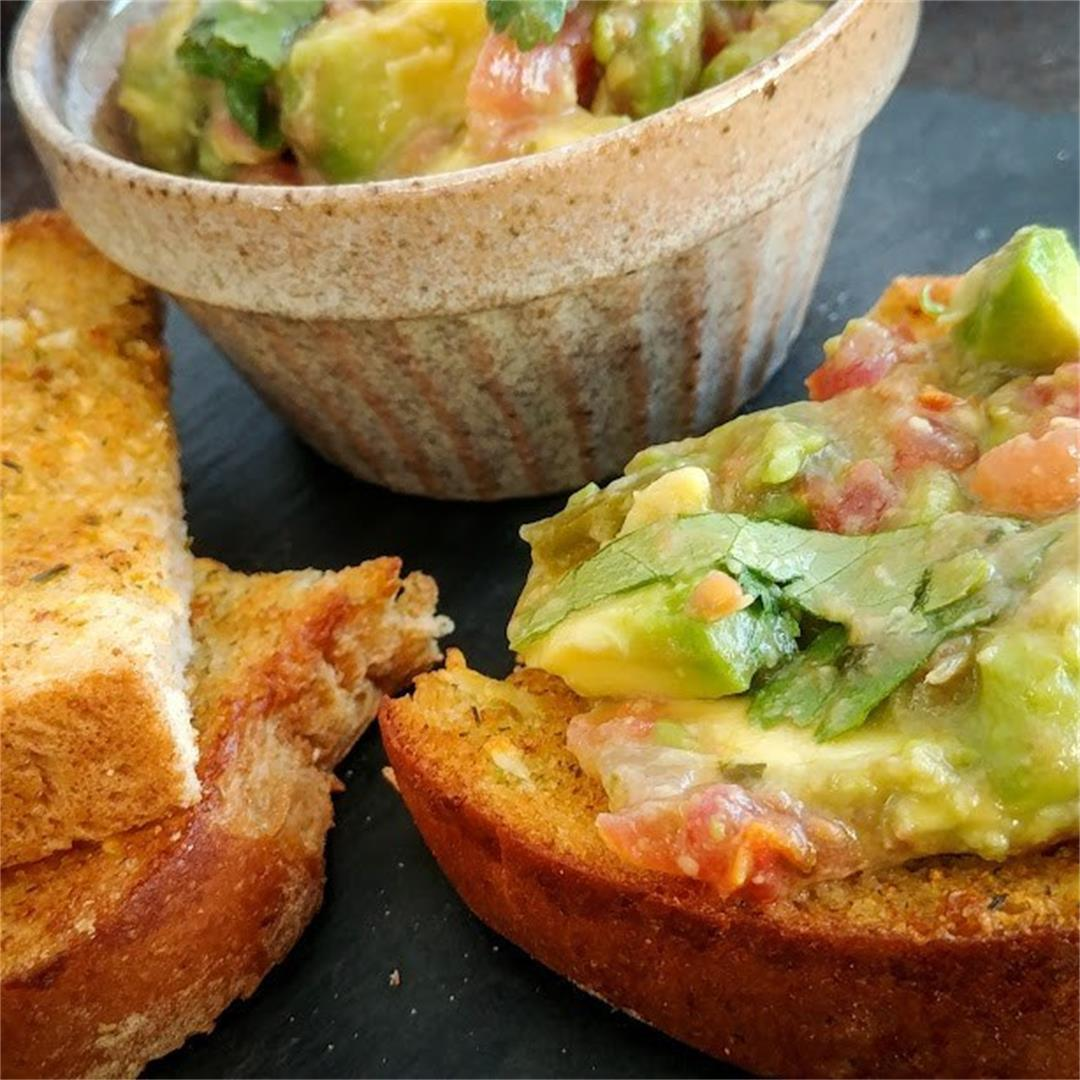 Avocado Salsa Garlic Toast