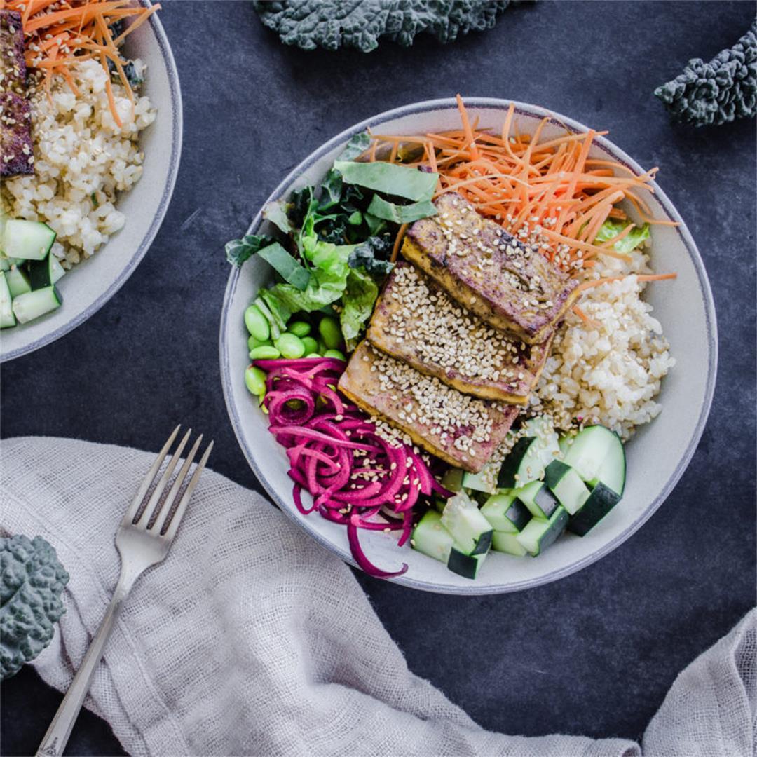 Vegan Buddha Bowls with Tofu (gluten-free)