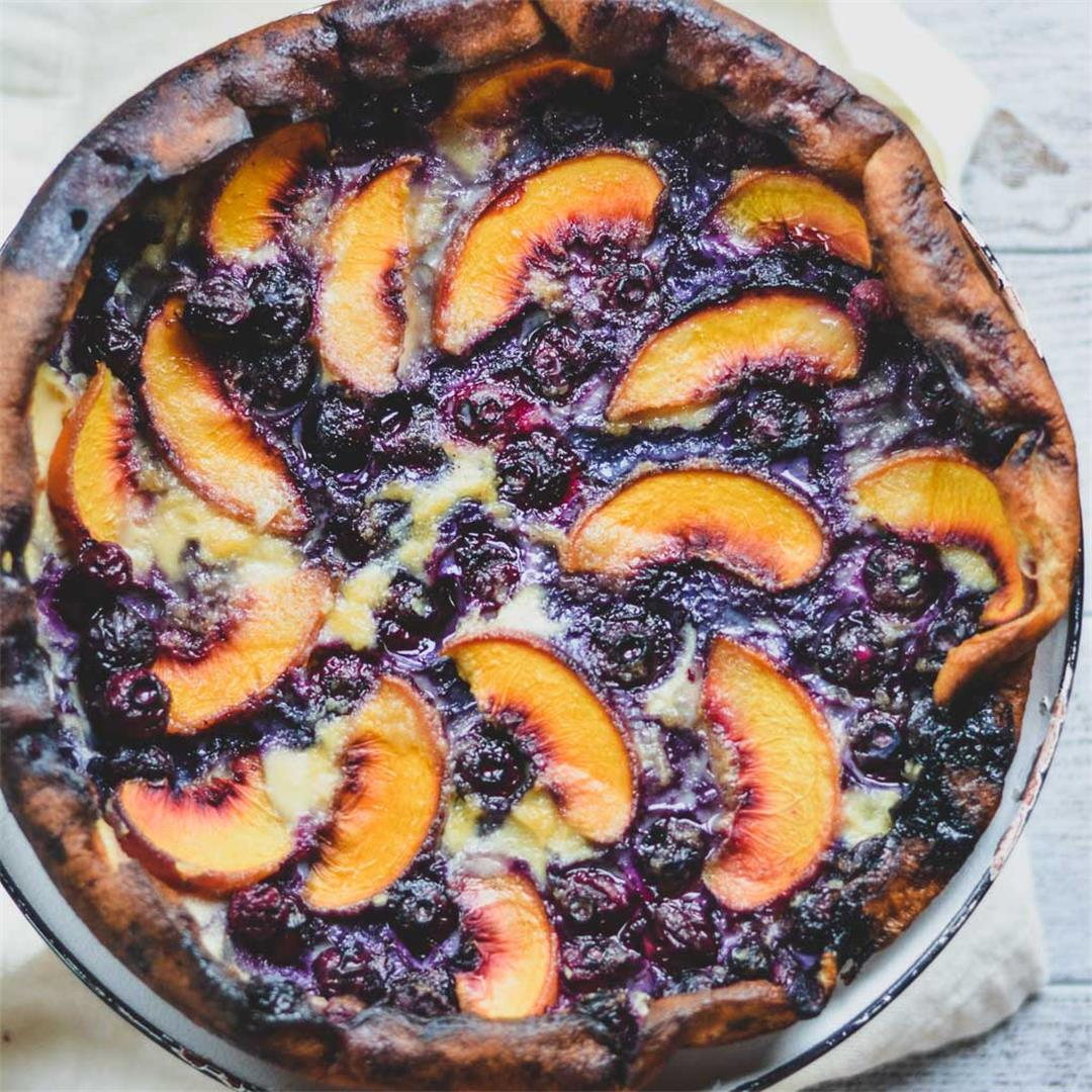 Blueberry & Peach Clafoutis — Wanderings in My Kitchen