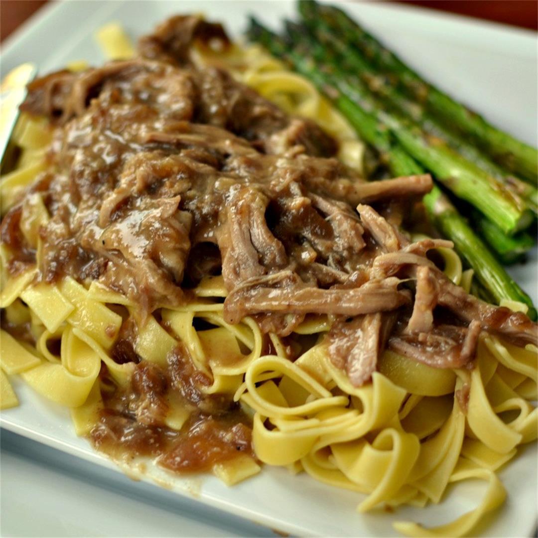 Slow Cooker Pork and Noodles