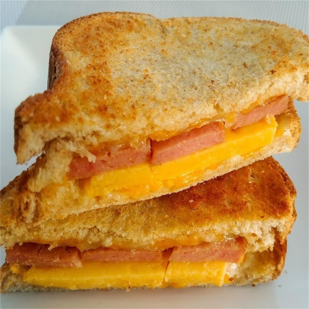 Spam and Tamagoyaki Grilled Cheese Sandwich