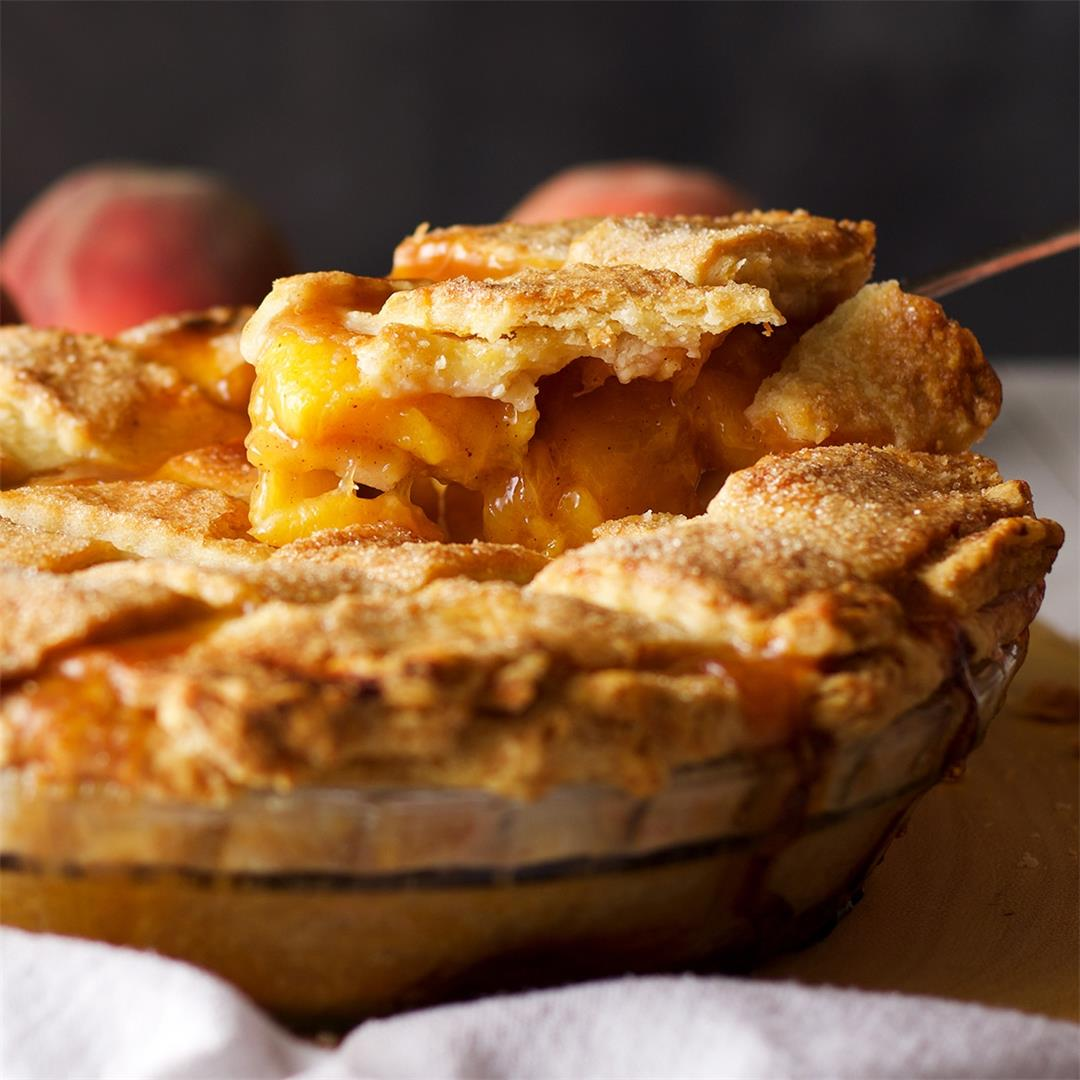 Fresh Peach Pie • Fruit Pie
