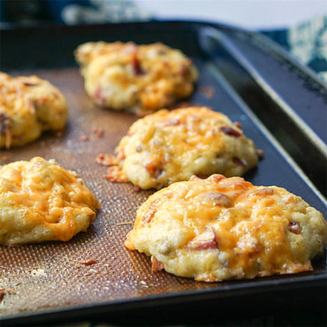 Meat Lover's Low Carb Biscuits for Breakfast on the Go!