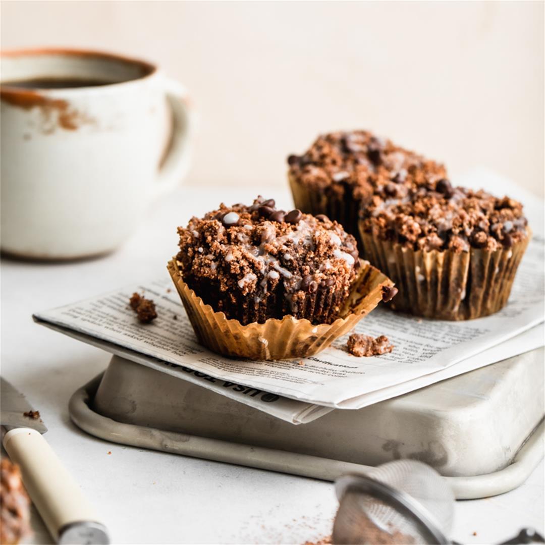 Vegan Gluten Free Chocolate Streusel Muffins — Peanut Butter Pl