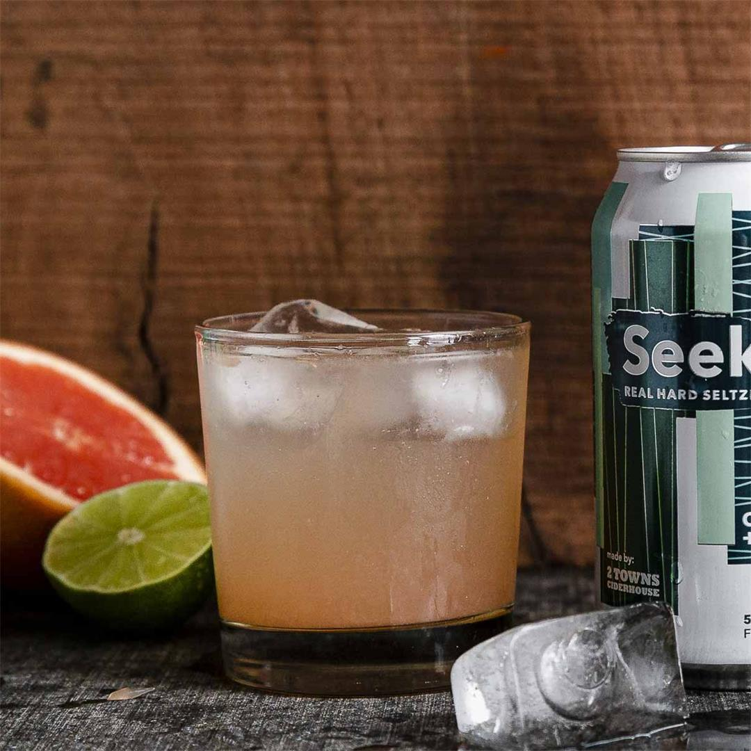 SeekOut Hard Seltzer Cucumber+Juniper Paloma Cocktail — Recipe