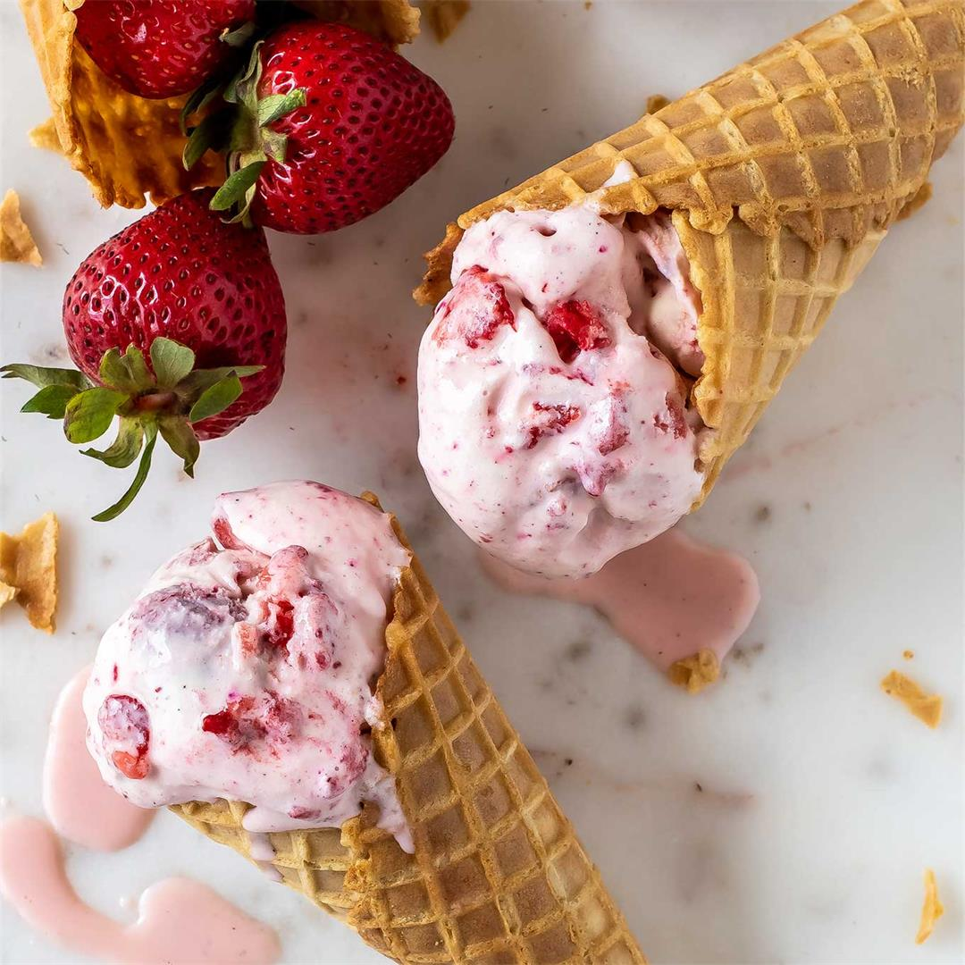 Strawberry Rose Ice Cream