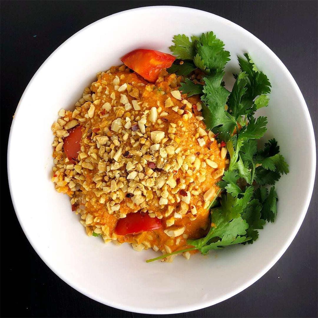 Spicy Tomato Peanut Bowls
