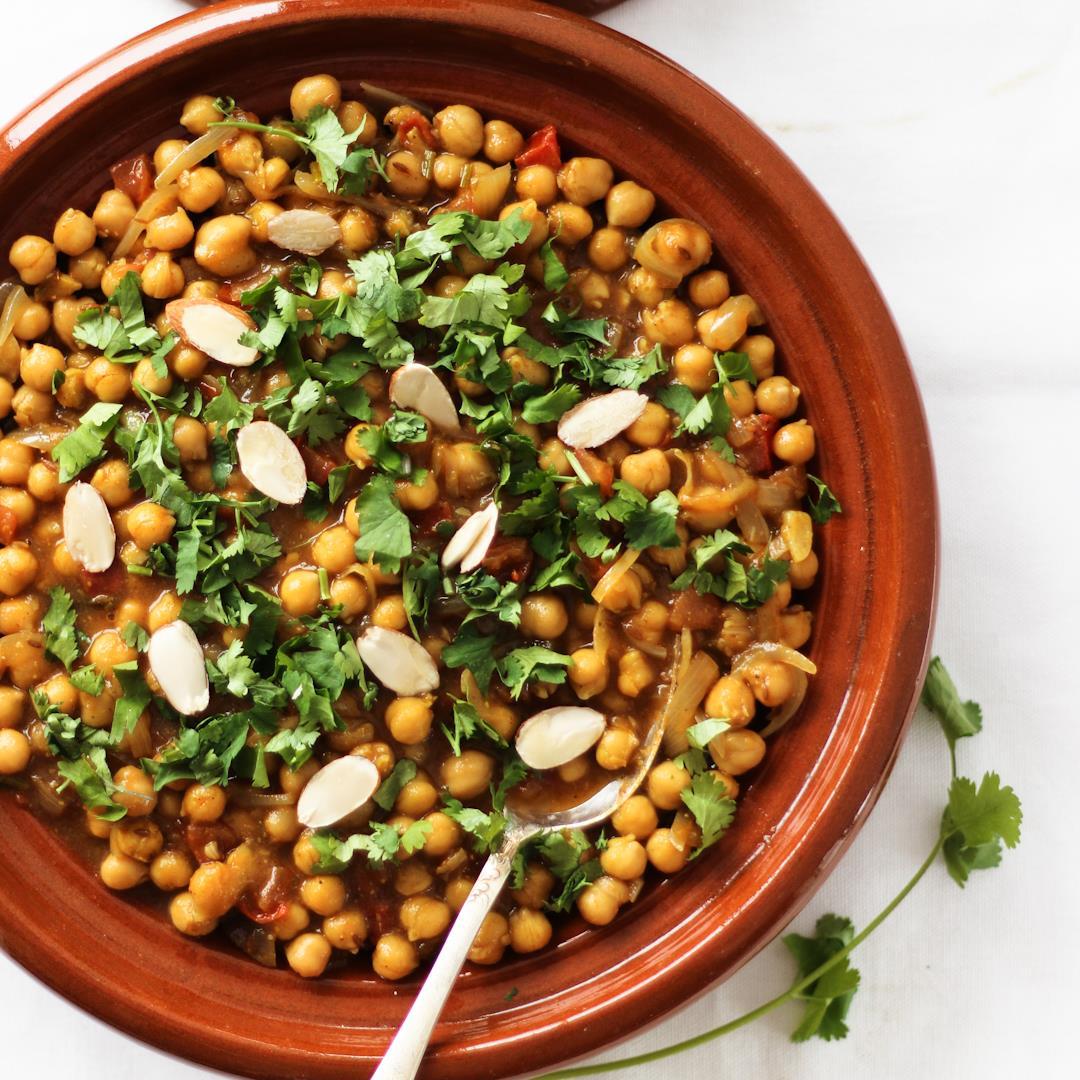 Moroccan Chickpea Tagine- Vegan & GF chickpea stew