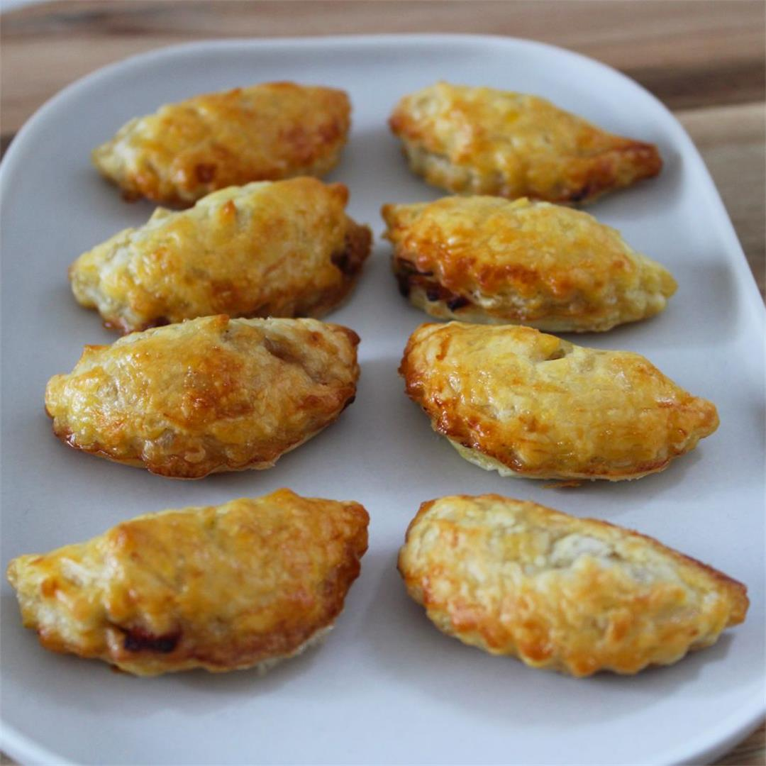Mini Bacon and Onion Pasties - It's Not Complicated Recipes