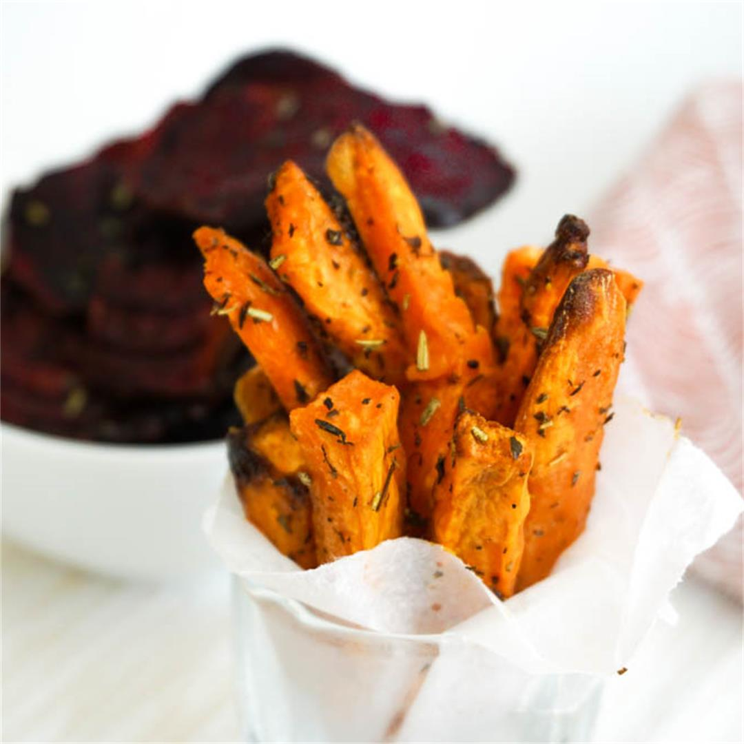 Mediterranean Baked Sweet Potato Fries (only 30 minutes)