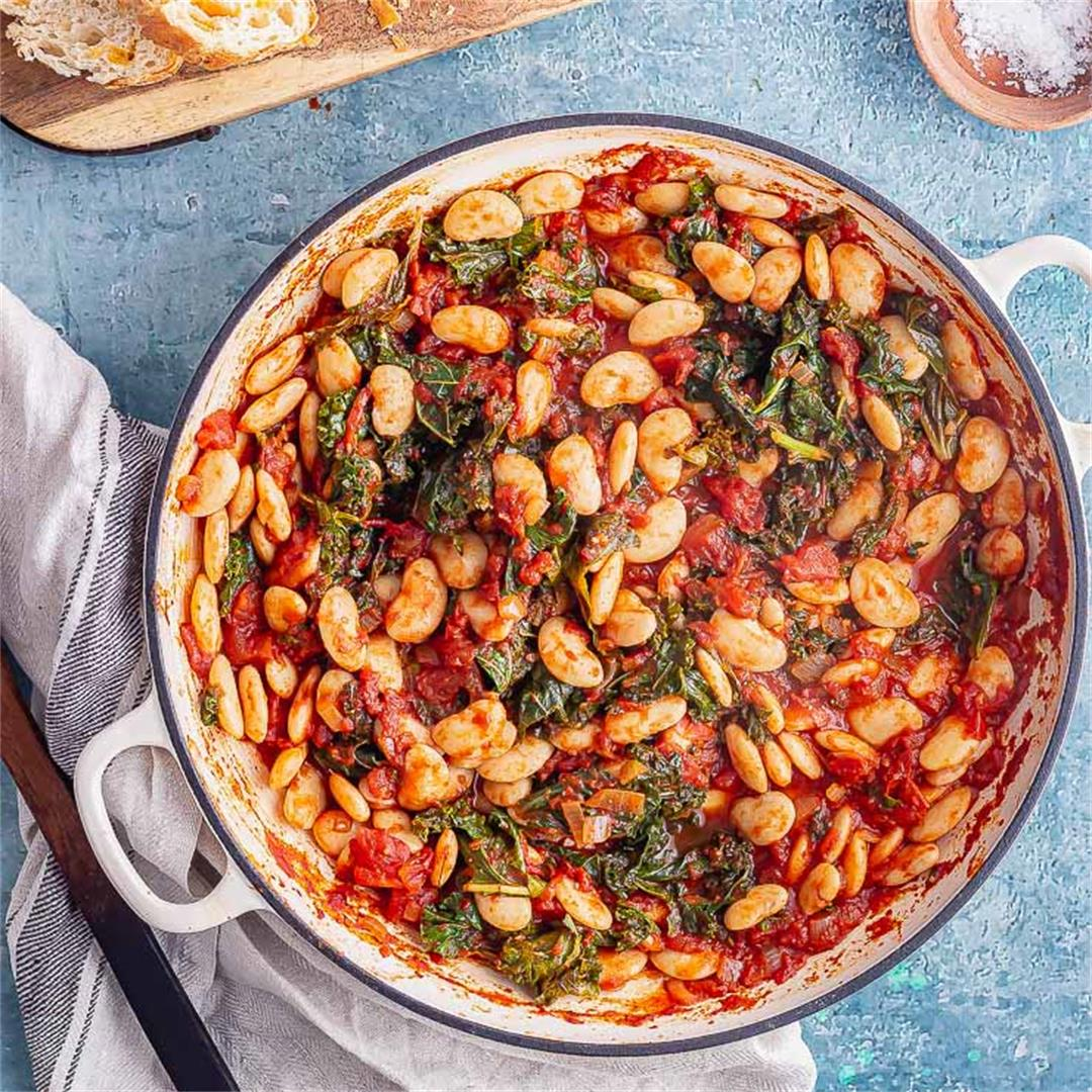 Smoky Bean Stew with Kale
