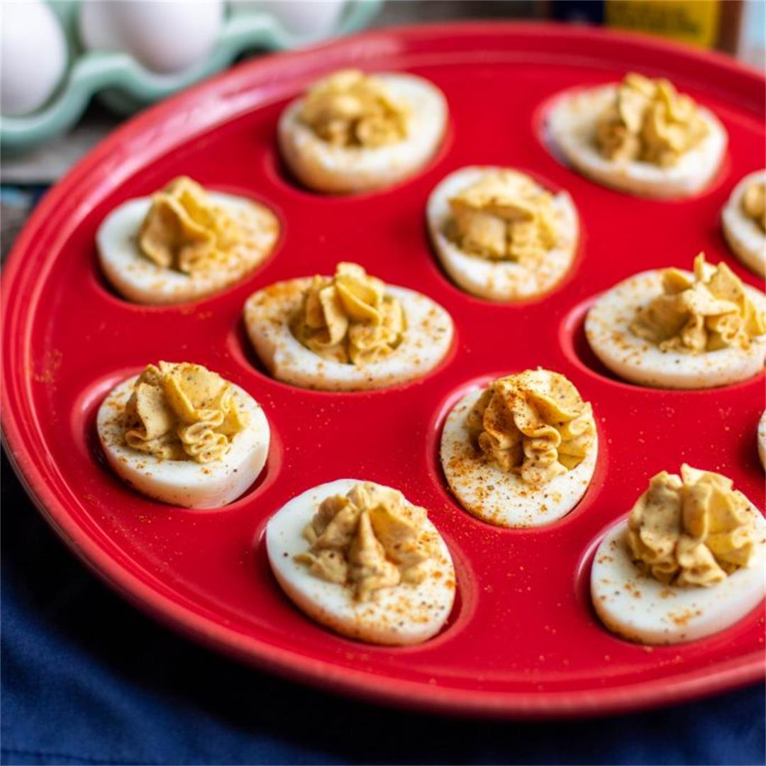 Spicy Old Bay Deviled Eggs Recipe