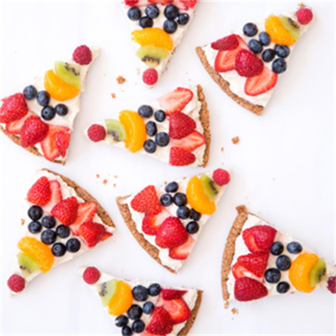 Healthy, Vegan, Gluten-Free, Fruit Pizza