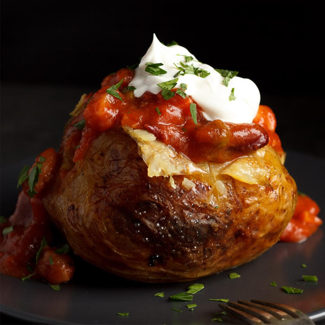 CRAZY Easy Slow Cooker Jacket Potatoes Recipe