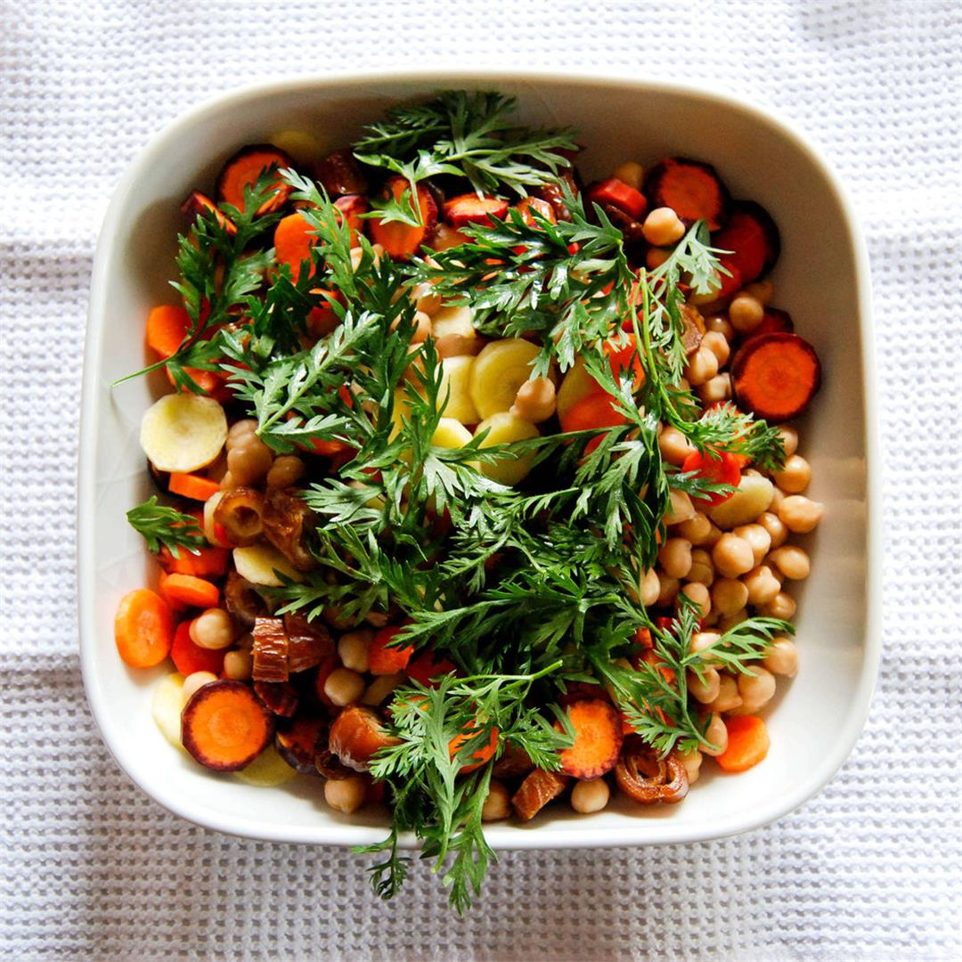 Carrot, Date and Chickpea Salad