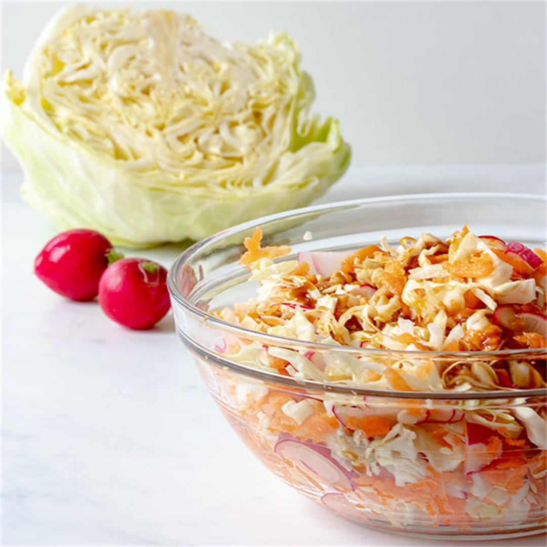 Cabbage Salad With Teriyaki Salad Dressing