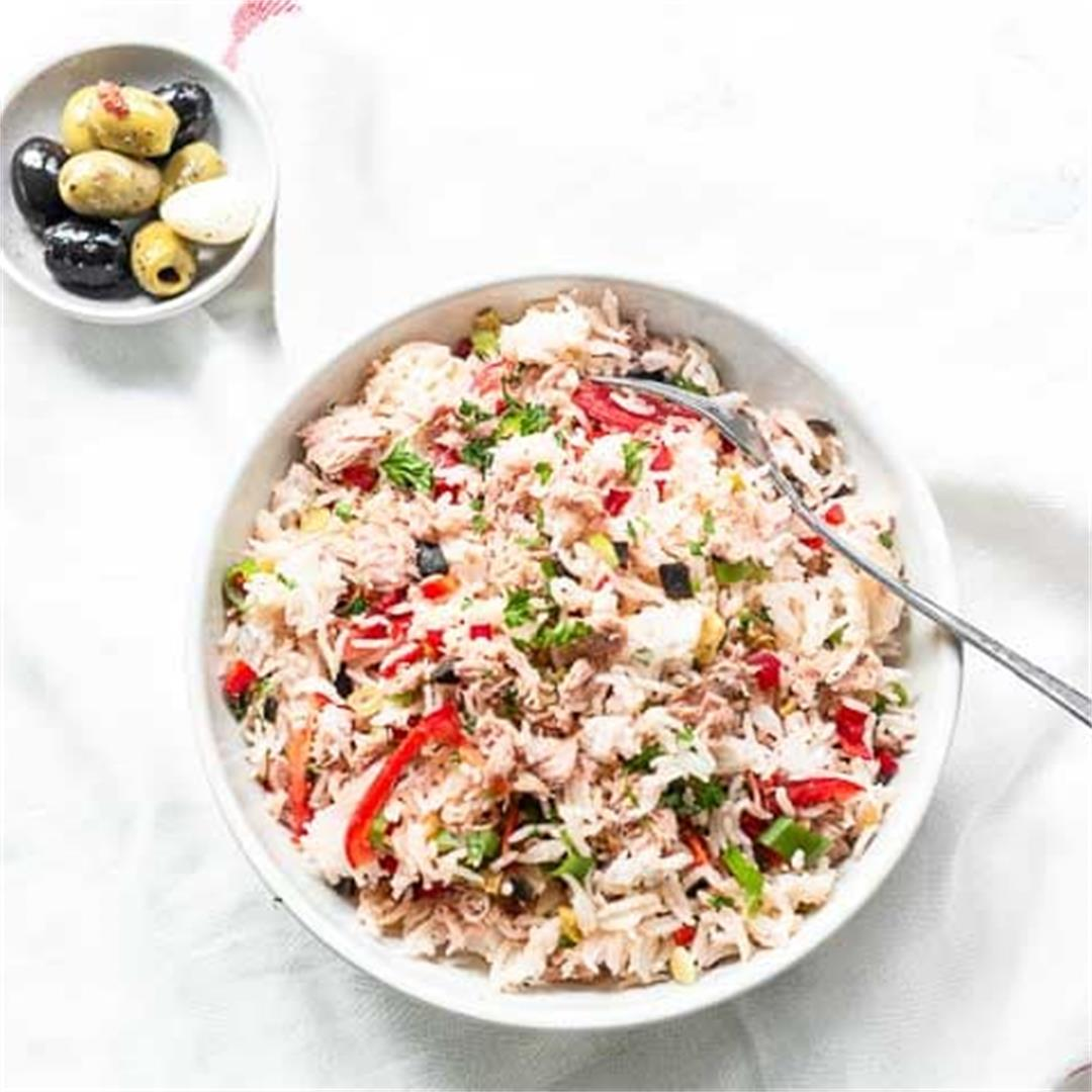 Rice salad with tuna {Ensalada de Arroz}