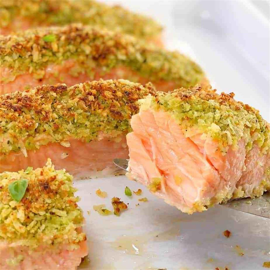 Baked Pesto Salmon · Chef Not Required...