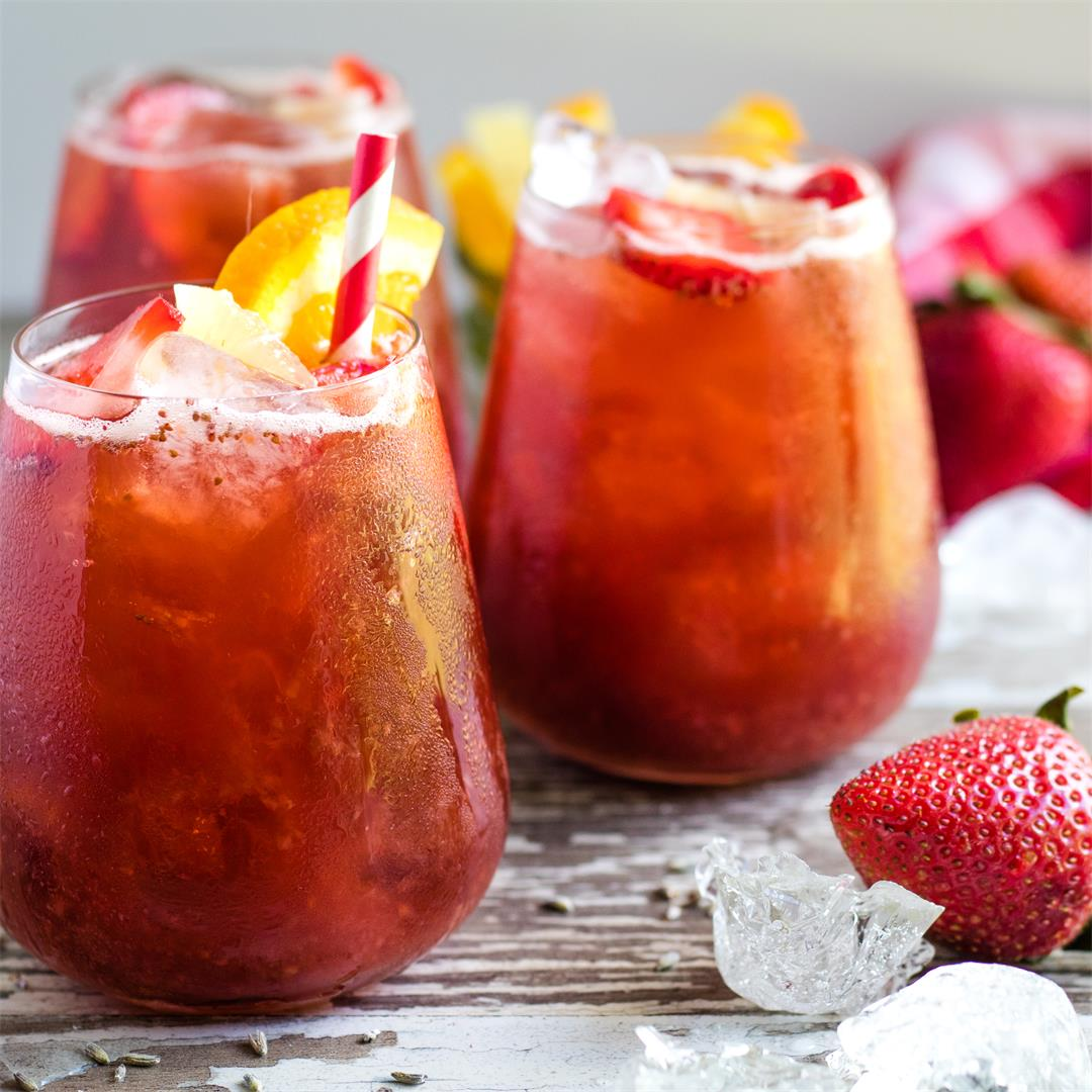 Instant Pot Strawberry Iced Tea Recipe