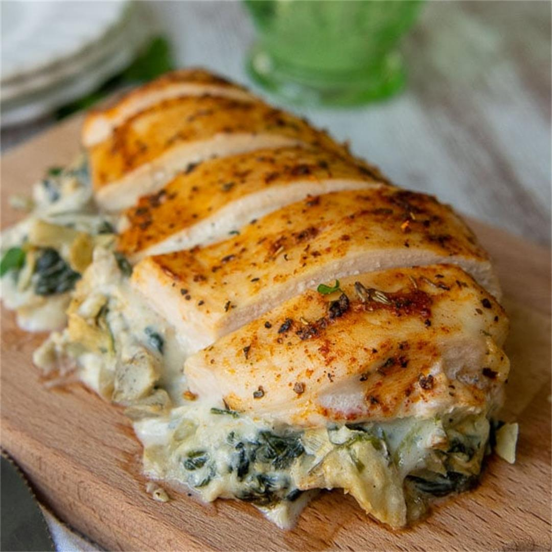 Easy Spinach Stuffed Chicken Breast