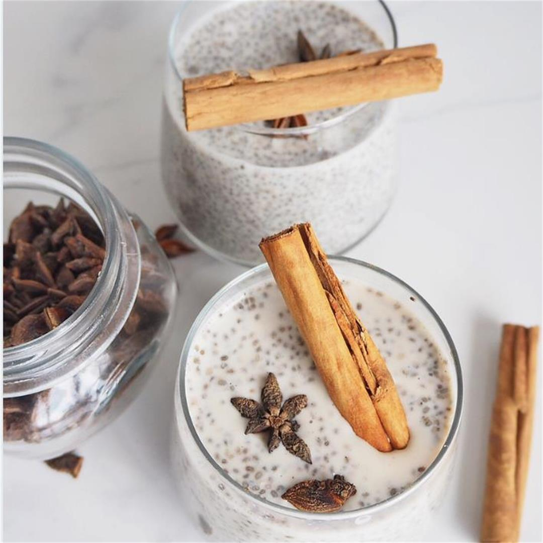 Chai Latte Chia Pudding recipe, Simple and Easy to follow step