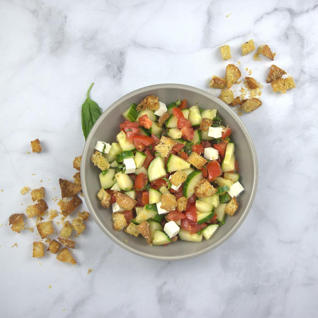 Panzanella with Cucumber and Feta – A Gourmet Food Blog