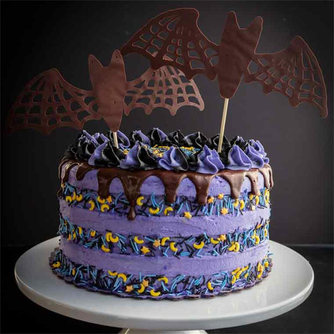 Chocolate Blackberry Halloween Cake