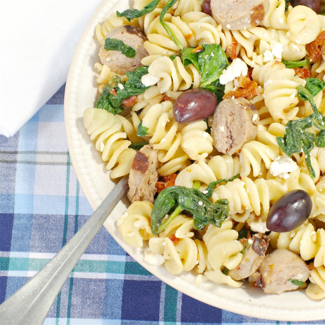 Healthy Greek Pasta Toss
