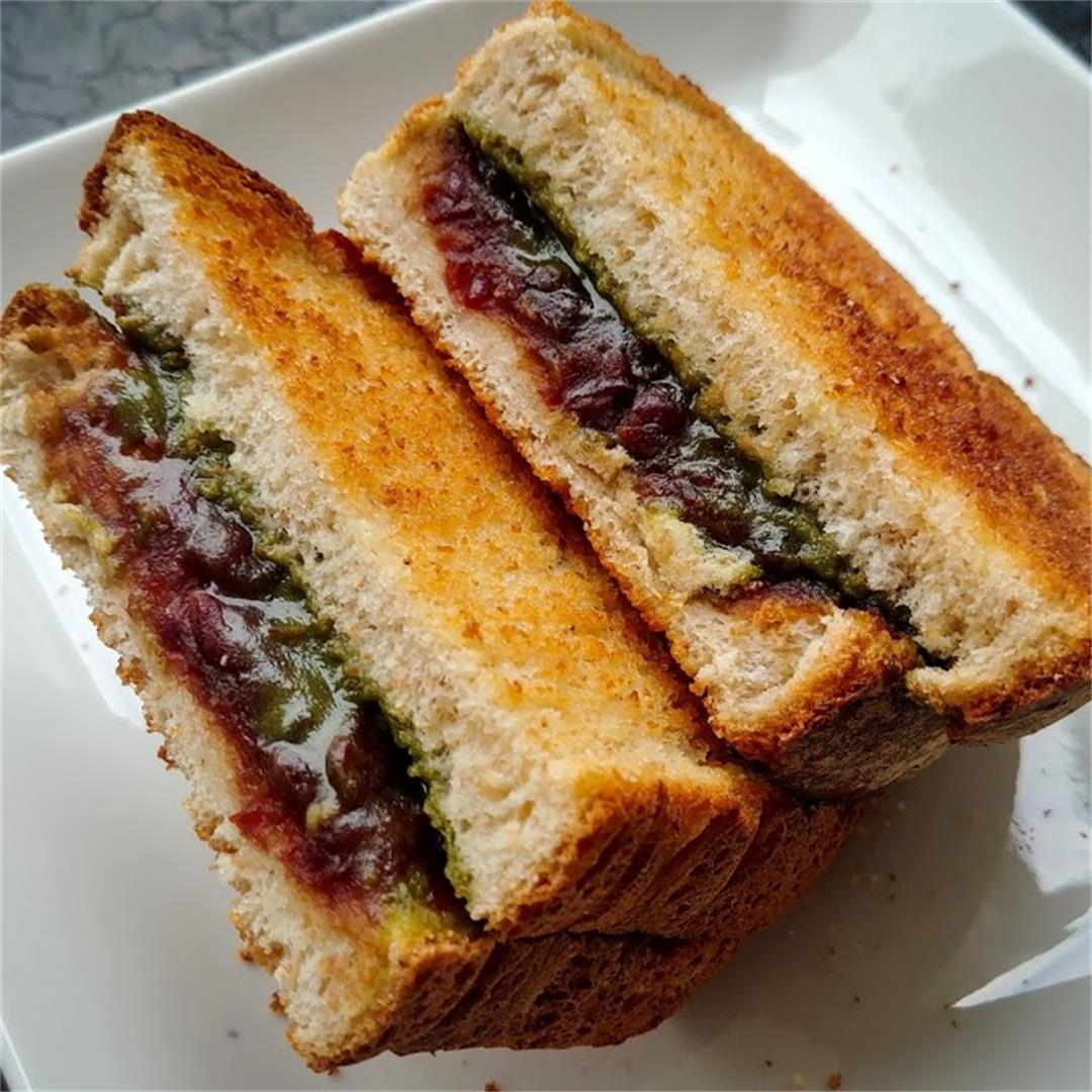 Matcha Red Bean Toast