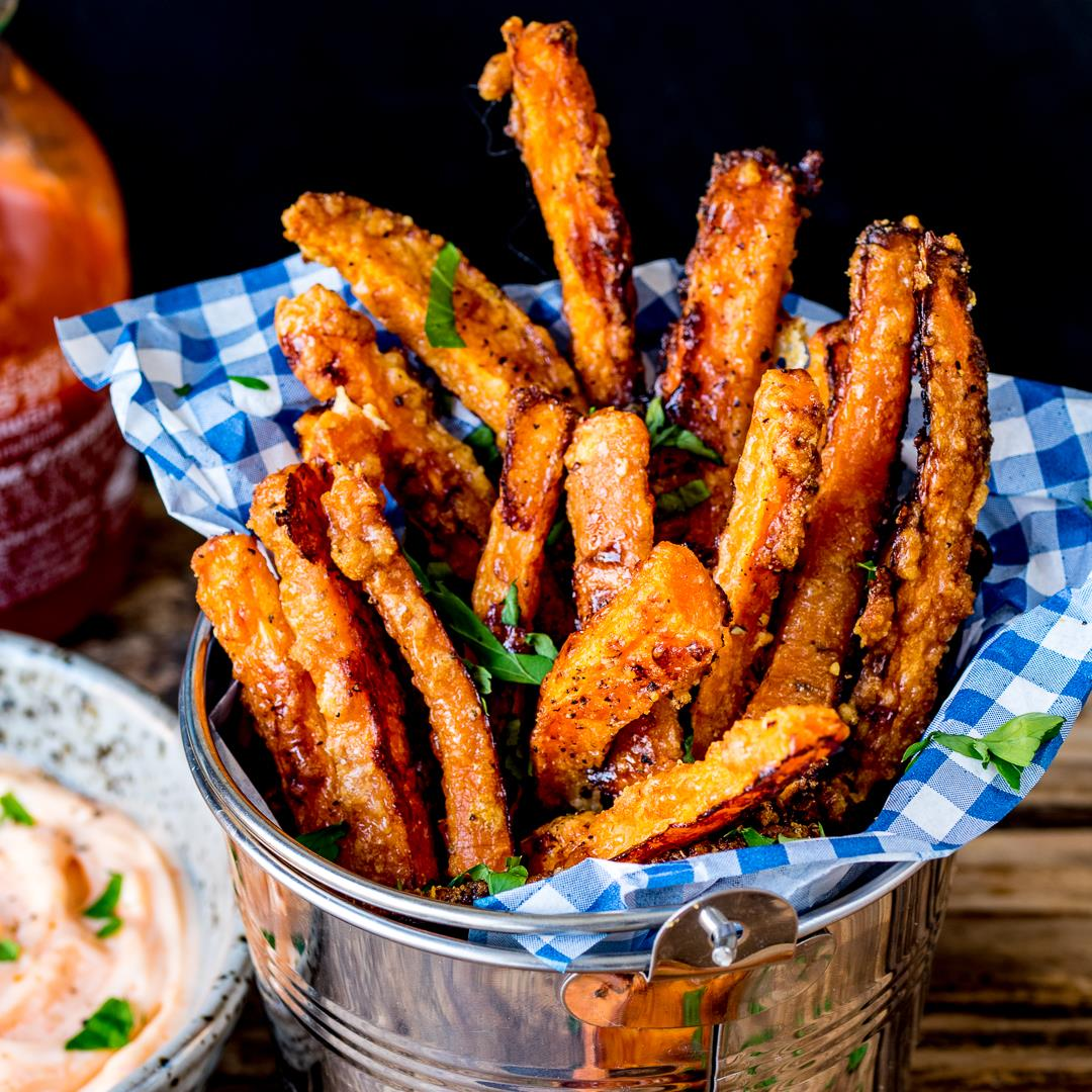 Baked Carrot Fries with Parmesan