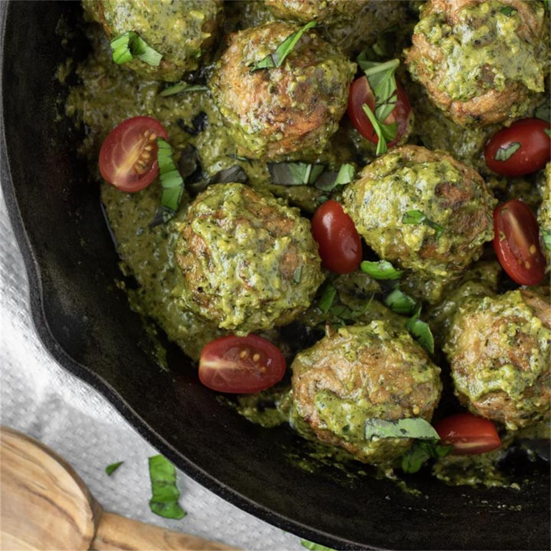 Chicken Pesto Meatballs