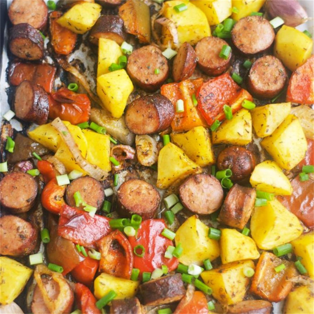 Smoked Sausage And Potatoes Bake