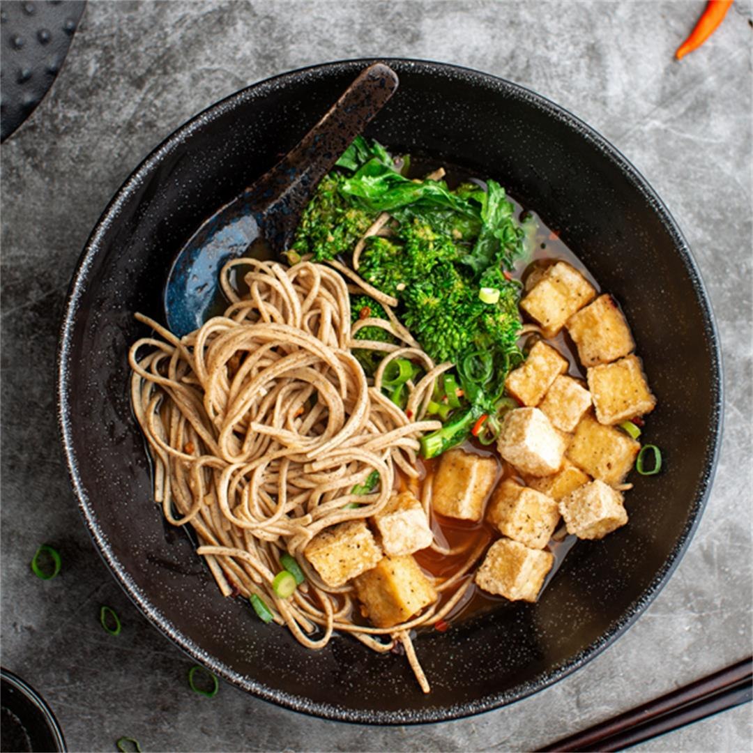 General Tso's Tofu Noodle Soup