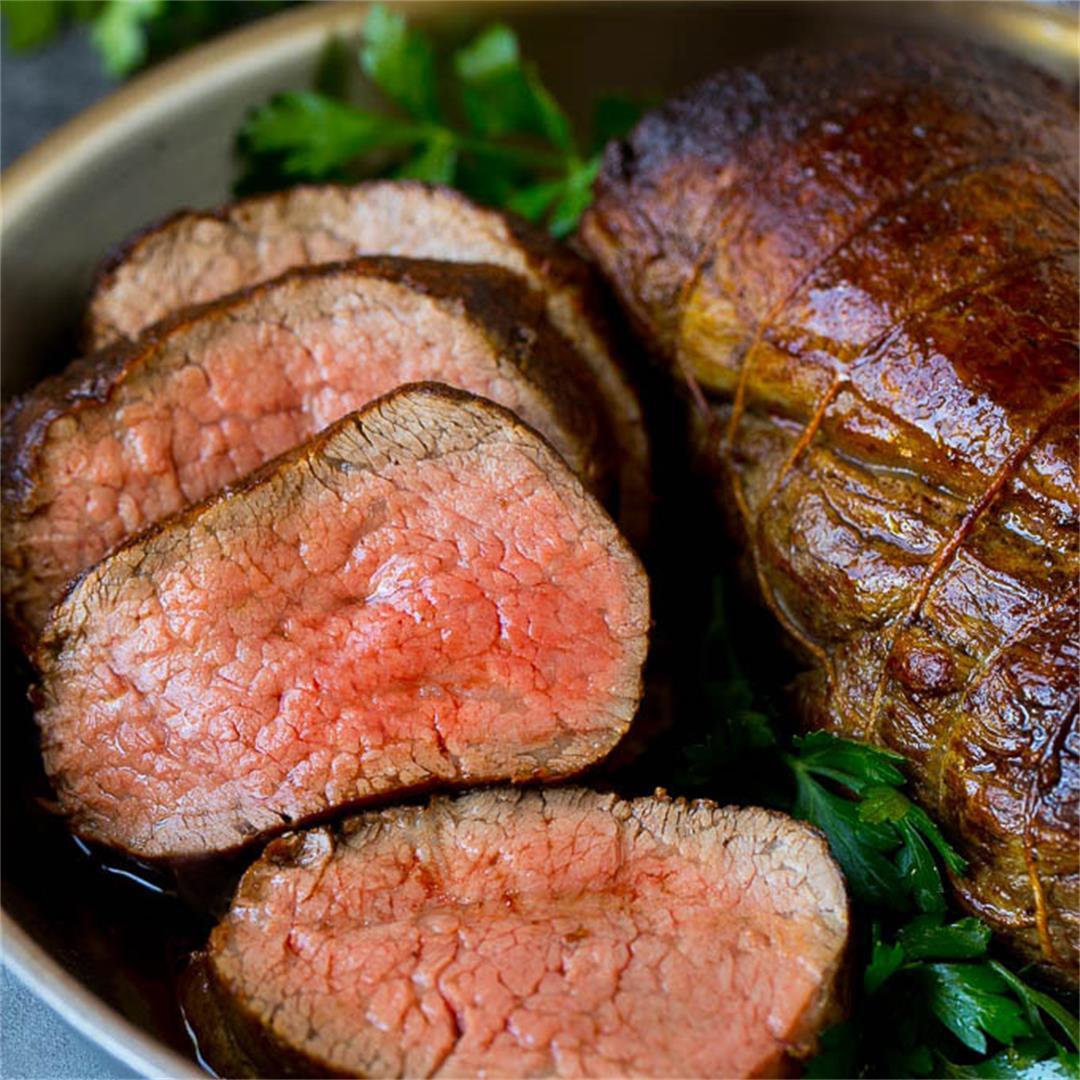 Beef Tenderloin with Garlic Butter
