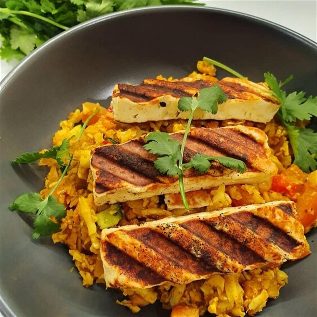 Keto Grilled Halloumi & Spiced Rice