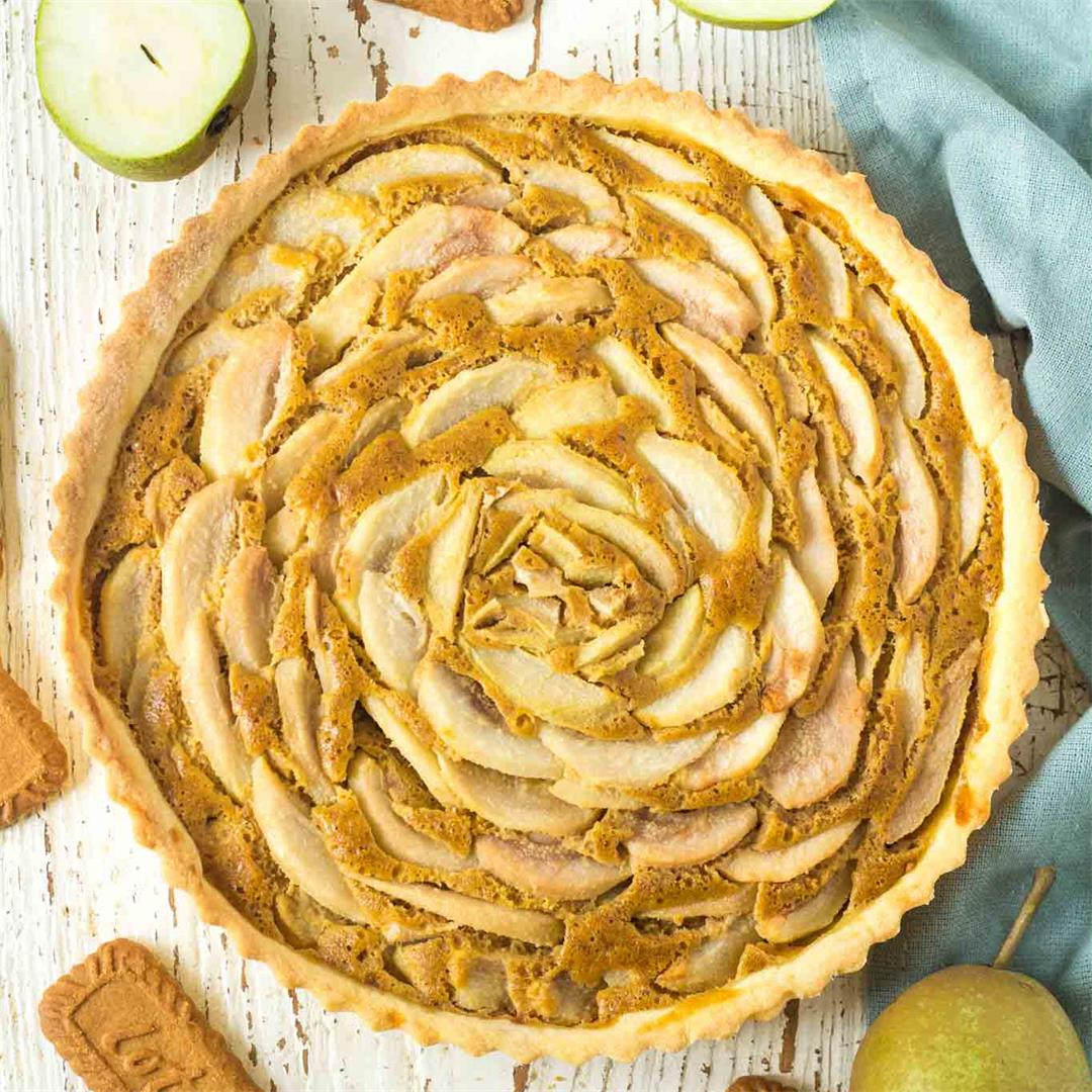 Pear Speculoos Tart