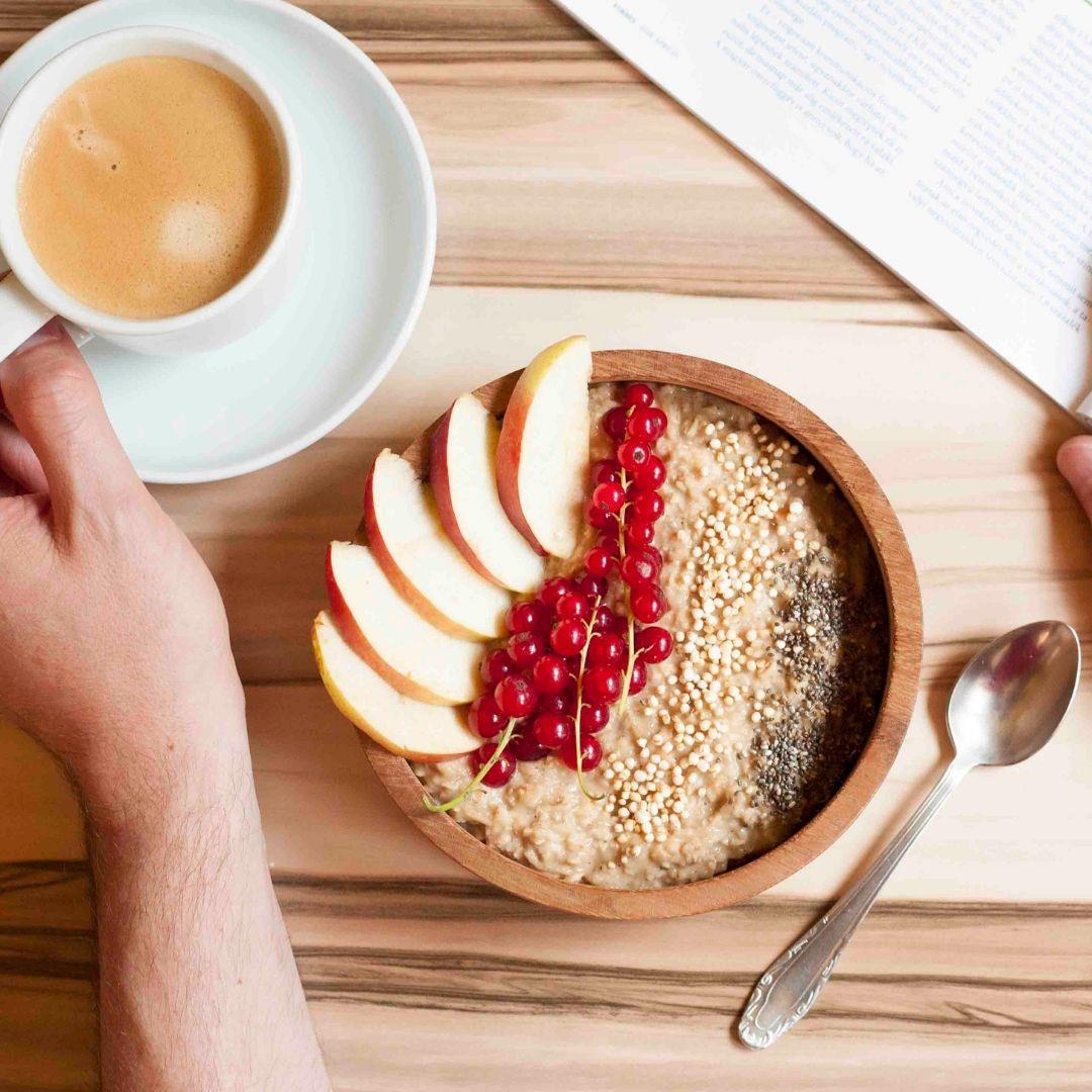 Healthy Apple Cinnamon Oatmeal on Stove Top